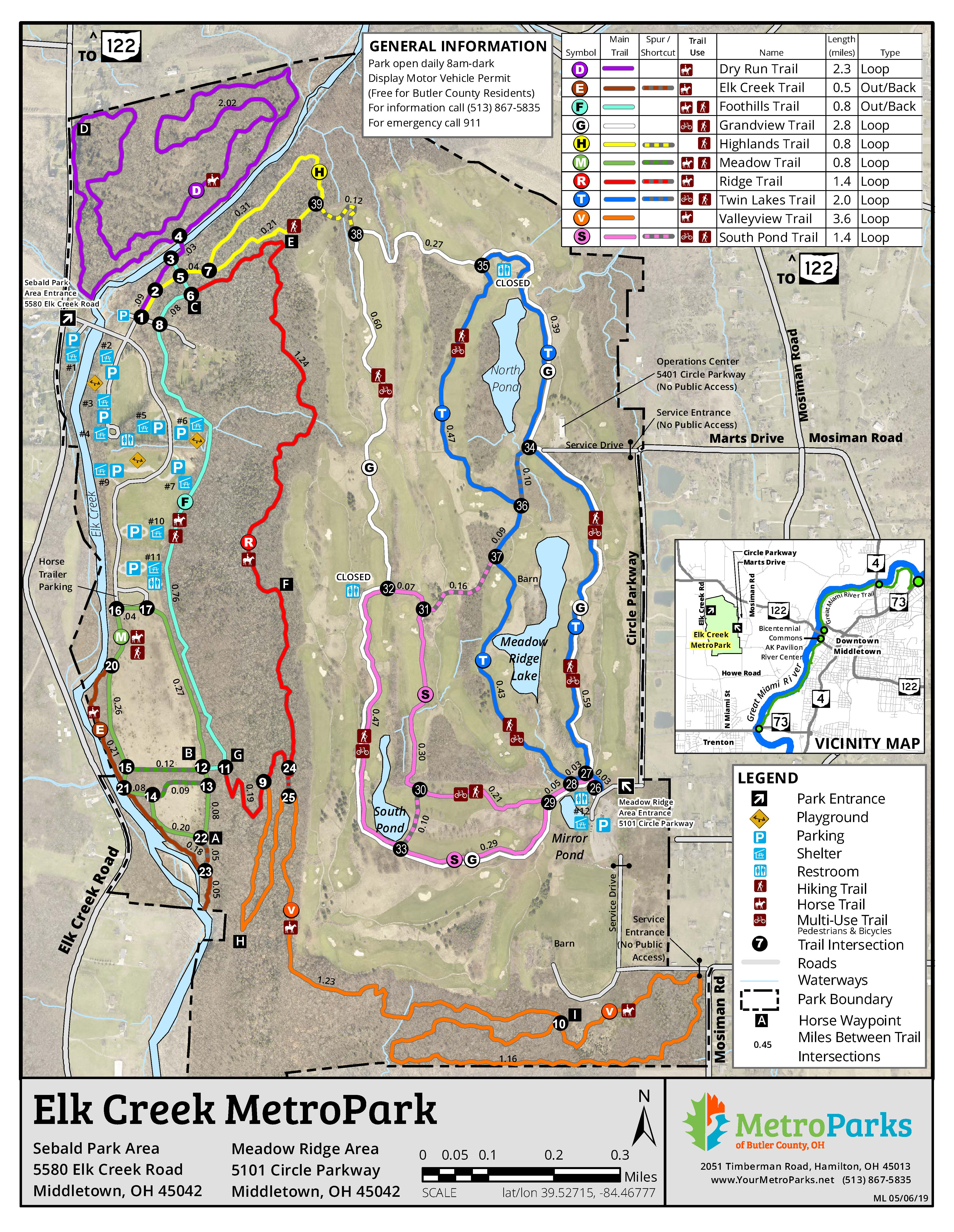 Elk Creek Meadow Ridge Map 2018