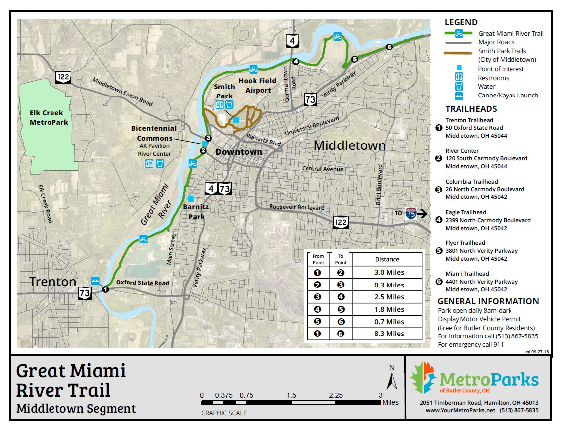 great miami river map Great Miami River Trail Metroparks Of Butler County great miami river map