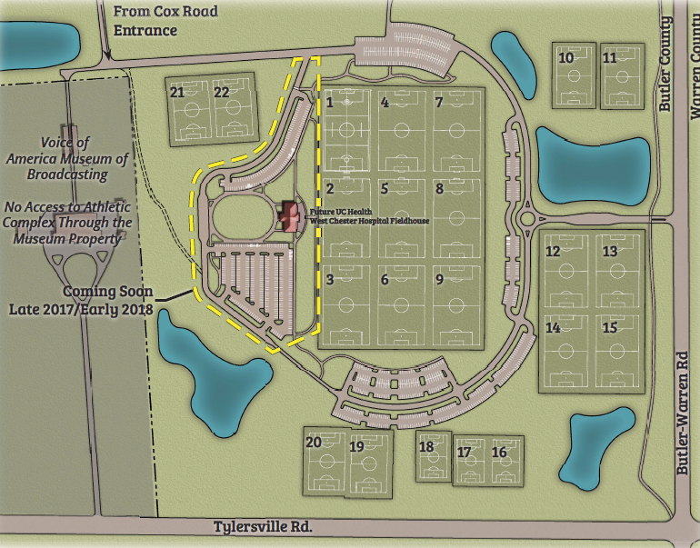 VOA Athletic Complex Field Map